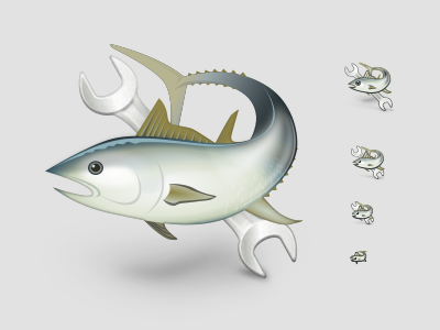 Tuna linux tuna icon svg inkscape
