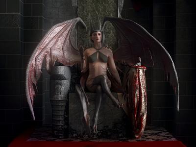 Succubus on Throne