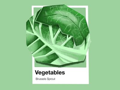 Vegetables Pantone Brussel Sprouts