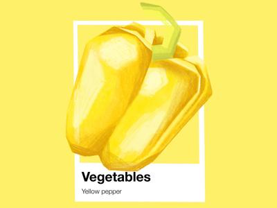 Vegetables Pantone Yellow Pepper