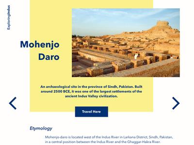 Mohenjo Daro ux ui webdesign