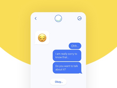 Messaging screen ux ui design ux mobile app app design visual design ui chatbot