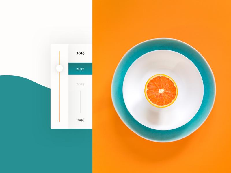 The Malta ixd interaction scroller slider orange