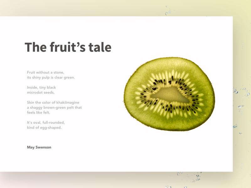 The Kiwi typogaphy poem