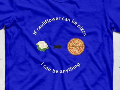 mockup pizza Califlower
