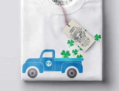 Farm Truck with folded shirt mockup