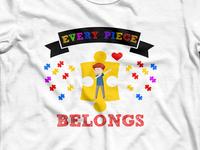 Autism Awareness t-shirt design with colors