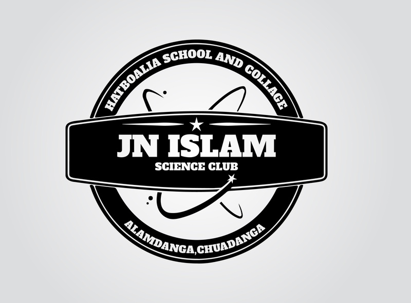 JN Science Club Logo design ux branding ui trendy logotype vector illustation vintage retro logo club