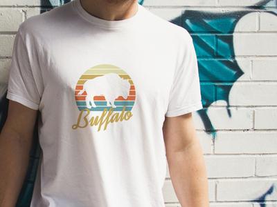 Buffalo, NY design buffalo bills illustrator vector tshirt design nyc new york buffalo tshirt