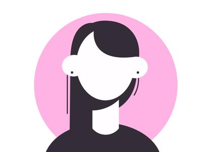 female avater- one female resume robolox vector girl character females girl illustration flat female character avater girl female