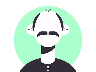 man bald avater illustation avatar icons vector flat illustration flat avater bald man