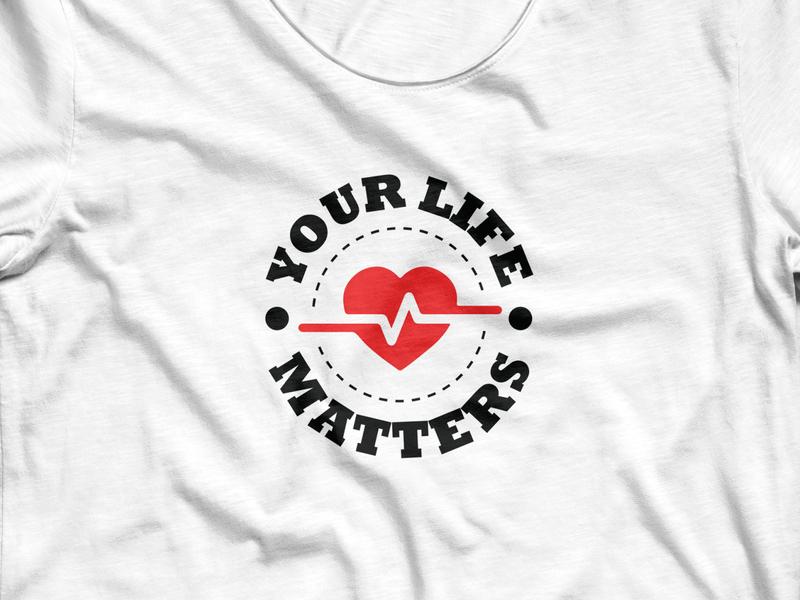 Heart Day t-shirt design trendy logotype apparel design fashion illustation ecg vector day world heart