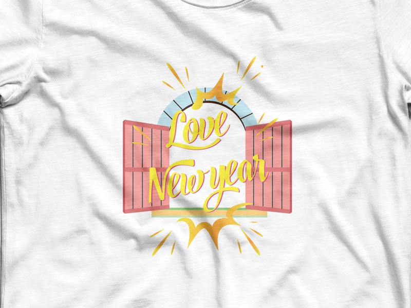 new year open window ui trendy logotype apparel design fashion illustation vector open window concept reusable window new york happy new year