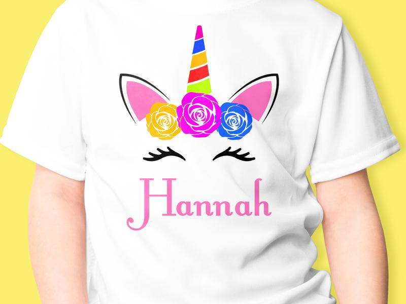 hannah mockup icon t-shirt design trendy logotype apparel design fashion illustation vector ui brand hanna soanna unicorn