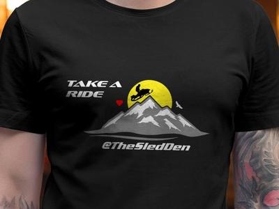 The Sled Den ski t-shirt typography t-shirt design trendy logotype apparel design fashion illustation vector conspiracy thesnowypay mountain ski sled