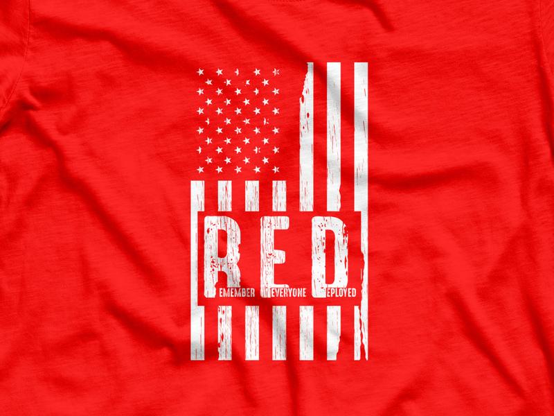 Red friday tshirt memorial day branding trendy logotype apparel design illustation vector nyc redesign america red friday friday red