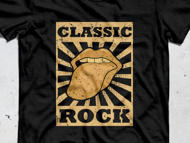 Classic Rock t-shirt design t-shirt graphic logotype trendy teeshirt tees teeshirts teespring apparel logo classic logo illustration vector illustrator merchandise merchandise design tshirts classical classic rock