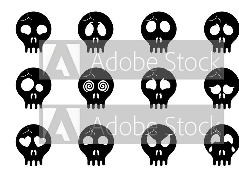 skull emoji for sale skull and crossbones trending typography logotype vector illustation funny facial expressions cute ghost skeliton skulls emoticon emoji skull
