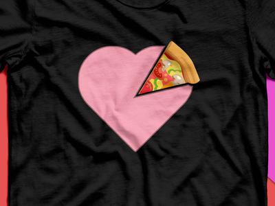 Pizza Heart t-shirt design
