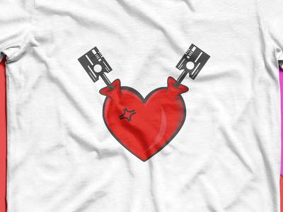 Heart Pumping design for t-shirt