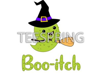 Funny Halloween Boo-itch Unisex tshirt design