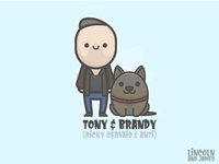 Tony and Brandy (Ricky Gervais and Anti) from After Life