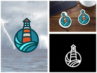 Minimal Lighthouse Badge