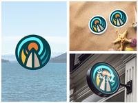 Minimal Surf Badge