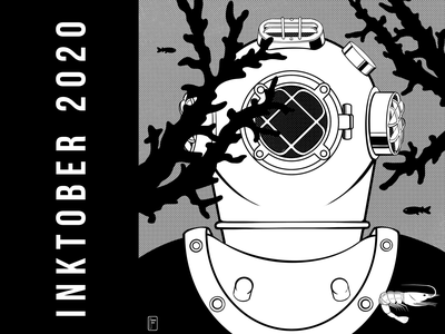 Inktober 2020 october octopus bw black and white blackandwhite black  white ink hand sea character design characterdesign character inktober2020 inktober art 2d digital 2d illustration