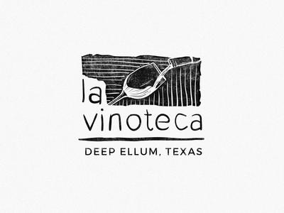"Logo exploration for ""La Vinoteca"" wine bar"