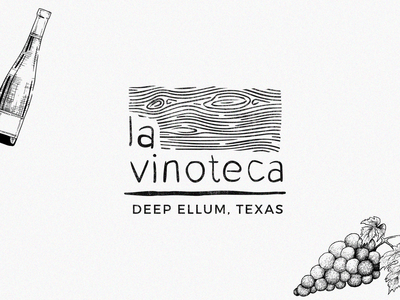 "Logo exploration for ""La Vinoteca"" wine bar"