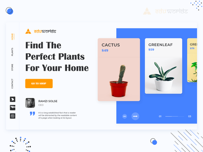 Landing Page Mockups - Plants plant illustration plants plant web mockup website mockup website template website layout web templates web template design template design website design web design website web landing page design landing page