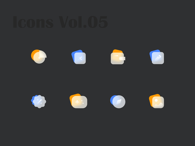 Glossy Icons Vol.05 gradient icons gradient icon glossy icon glossy icons iconography icons set icons pack icon set iconset icons icon design icon