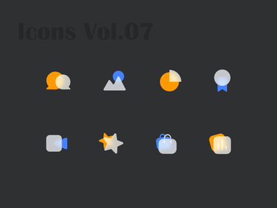 Glossy Icons Vol.07 icons collection glossy icons glossy glossy icon iconography icons set icons pack icon set iconset icons icon design icon