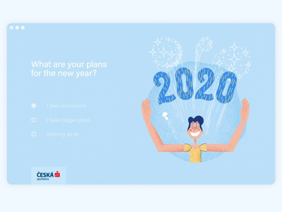 New year's resolutions survey website banking app banking editorial illustration editorial digital illustration design picture character design illustration