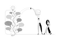 Strategist planner website illustration