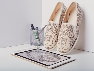 The Day of Slippers 2019 charity hand drawn shoes digital illustration design character design illustration