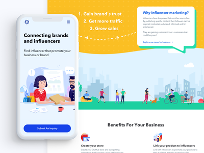 Landing Page — Mobile & Desktop ux ui portfolio mobile product design landing page design agency marketing home page landing page branding design illustration