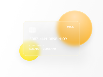 Glass Card Design bank card glass effect illustration modern tutorial cards design abstract clean simple cards ui 3d card glossy