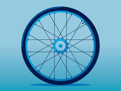Tired illustration bike bicycle tire simple geometric shape