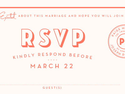 RSVP rsvp wedding invite letterpress script neutra seal type