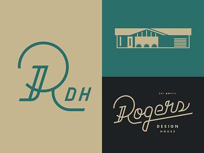 Rogers Design House lettering script modern mid-century type logo