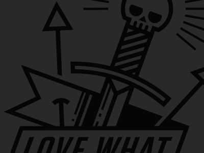 Skulls, Daggers, and Arrows Oh My illustration skull arrows dagger banner type typography line