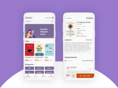 Book Store Mobile App UI/UX Design