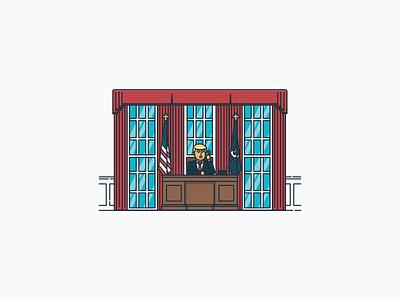 Track Trump illustration oval office white house president inauguration trump