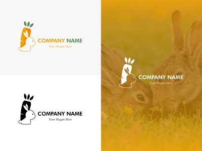 Carrot and Rabbit Logo Sample