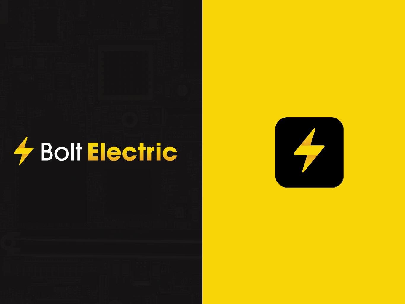 Bolt Electric Branding ID Concept branding vector illustration flat logo branding and identity