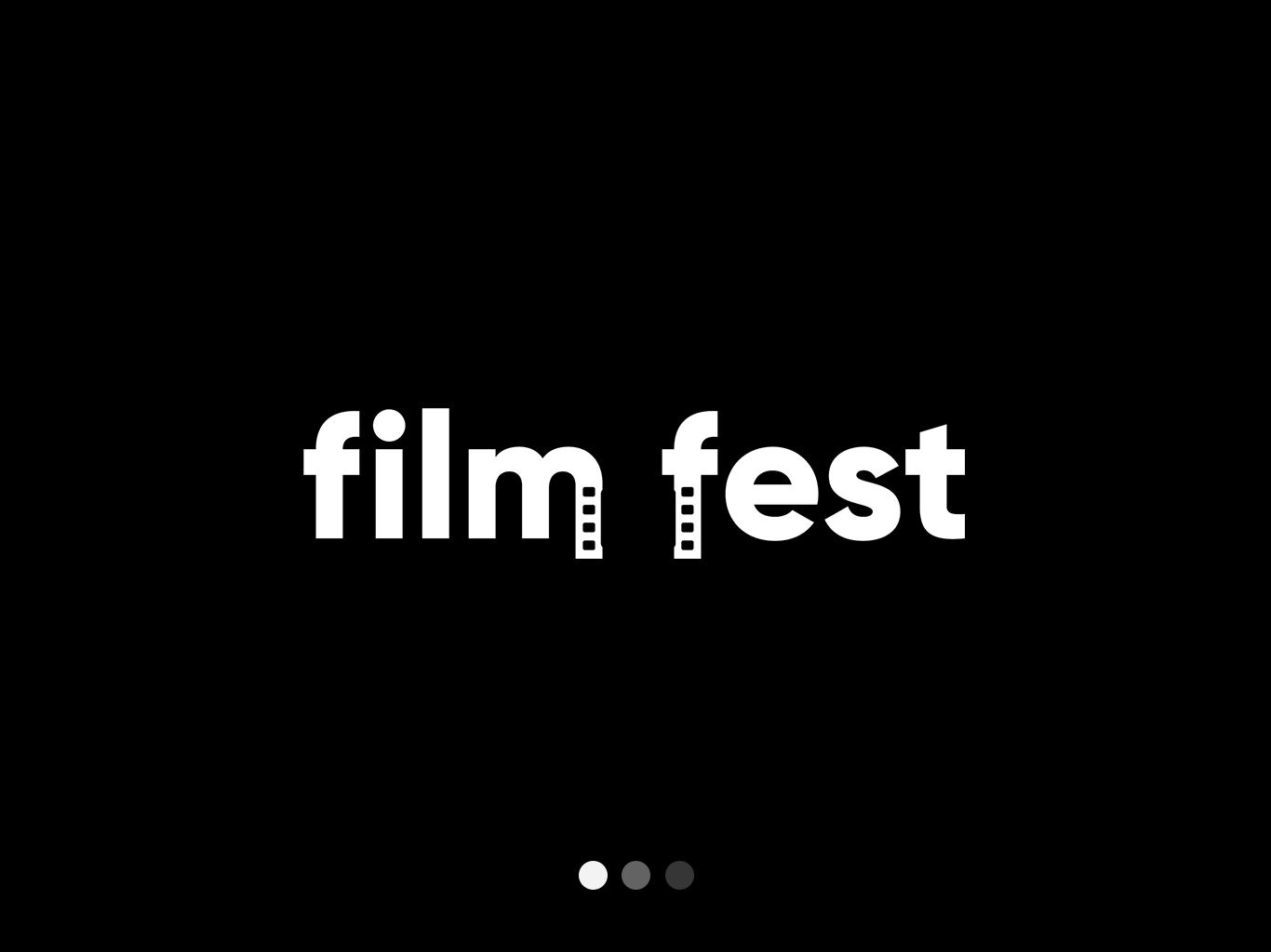 Film Fest Logo Design negative space negative space logo typography design vector logo illustration flat