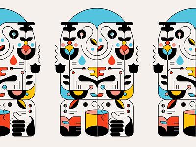 Coffee House logo typography identity illustrator icon flat branding vector illustration design