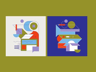 Shipping Illustration identity illustrator icon flat branding vector illustration design